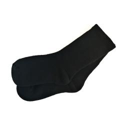 Skarpety lniane frotte kolor czarny