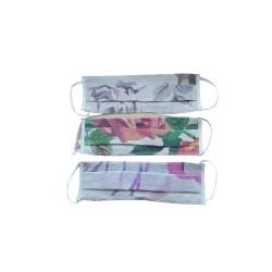 maseczka z kieszenią na filtr desenie