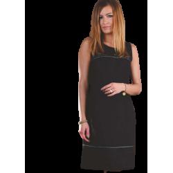 Sukienka lniana -  czarne...