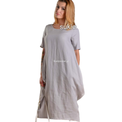 Sukienka lniana - naturalna...
