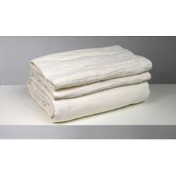 tkanina 100% len biały śmietana CREAMY WHITE