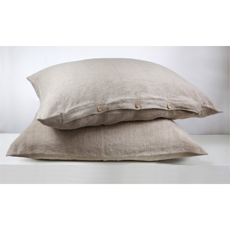 Lniana poszewka na poduszkę| PURE NATURAL |