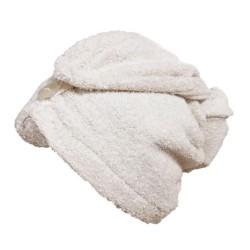 turban biały frotte